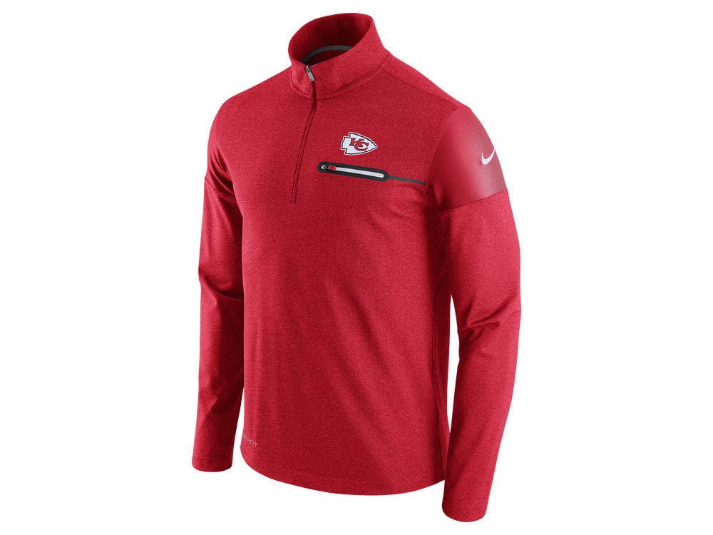 Kansas City Chiefs Nike NFL Men s Elite Coaches 1 4 Zip Pullover ... db390a419