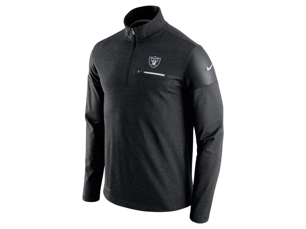 29efaa299 Oakland Raiders Nike NFL Men s Elite Coaches 1 4 Zip Pullover