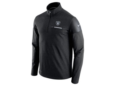 Oakland Raiders Nike NFL Men's Elite Coaches 1/4 Zip Pullover