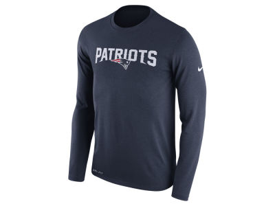 New England Patriots Nike NFL Men's Essential Lock Up Long Sleeve T-Shirt