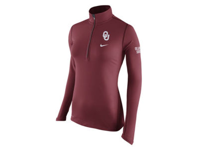 Oklahoma Sooners Nike NCAA Womens Tailgate Element Half Zip Shirt
