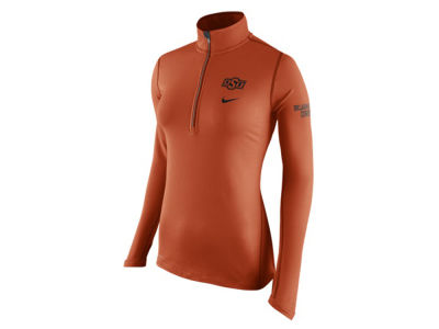Oklahoma State Cowboys Nike NCAA Womens Tailgate Element Half Zip Shirt
