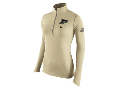 Purdue Boilermakers Nike NCAA Womens Tailgate Element Half Zip Shirt