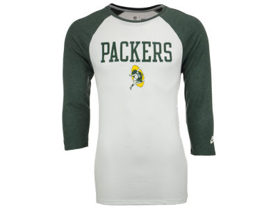 Green Bay Packers Nike NFL Men's Historic Tri Raglan T-Shirt