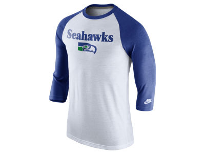 Seattle Seahawks Nike NFL Men's Historic Tri Raglan T-Shirt