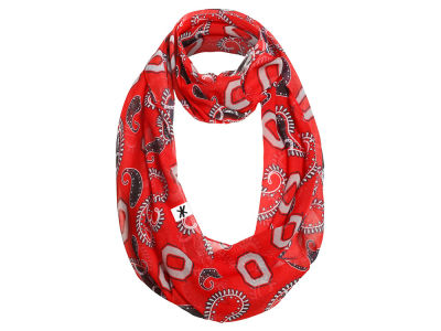 Ohio State Buckeyes All Over Logo Paisley Infinity Scarf