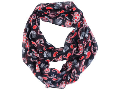 Chicago Blackhawks All Over Logo Paisley Infinity Scarf
