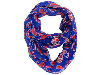 Chicago Cubs All Over Logo Paisley Infinity Scarf