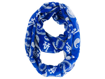 Los Angeles Dodgers All Over Logo Paisley Infinity Scarf