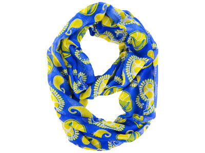 Golden State Warriors All Over Logo Paisley Infinity Scarf