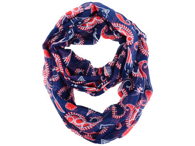 New England Patriots All Over Logo Paisley Infinity Scarf