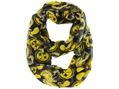 Pittsburgh Steelers All Over Logo Paisley Infinity Scarf