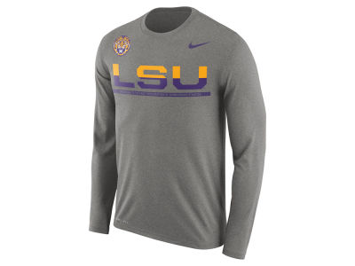 LSU Tigers Nike NCAA Men's Legend Staff Sideline Long Sleeve T-Shirt