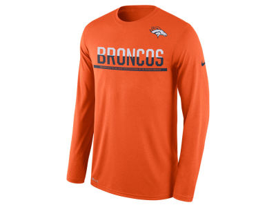 Denver Broncos Nike NFL Men's Team Practice Long Sleeve T-Shirt