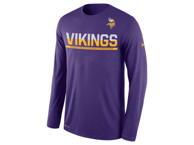 Minnesota Vikings Nike NFL Men's Team Practice Long Sleeve T-Shirt