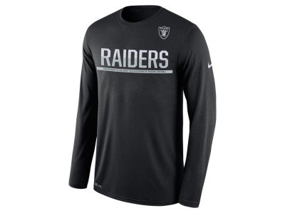 Oakland Raiders Nike NFL Men's Team Practice Long Sleeve T-Shirt