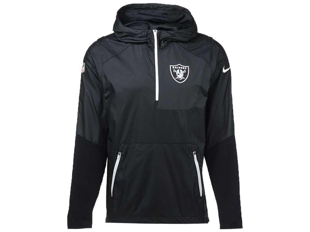 f871e6510 Oakland Raiders Nike NFL Men s Vapor Speed Fly Rush Pullover Jacket ...