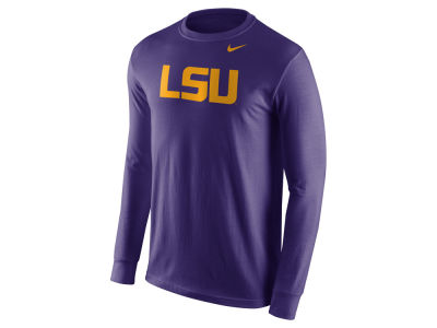 LSU Tigers Nike NCAA Men's Cotton Wordmark Long Sleeve T-Shirt