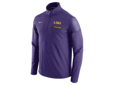 LSU Tigers Nike NCAA Men's Elite Coaches Half Zip Pullover