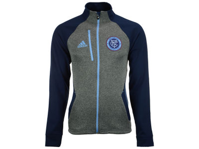 New York City FC adidas MLS Men's Fleece Track Jacket