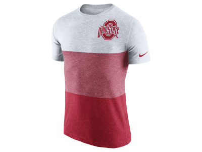 Ohio State Buckeyes Nike NCAA Men's Tri-Blend Block T-Shirt