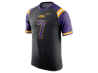 LSU Tigers Nike NCAA Men's Dri-Fit Cotton New Day Number T-Shirt