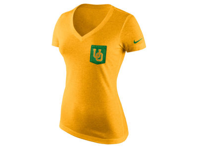 Oregon Ducks Nike NCAA Women's Tri Mid-V Pocket T-Shirt