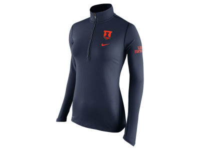 Illinois Fighting Illini Nike NCAA Womens Tailgate Element Half Zip Shirt