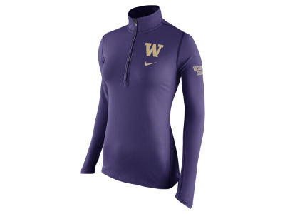 Washington Huskies Nike NCAA Womens Tailgate Element Half Zip Shirt