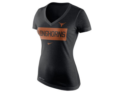 Texas Longhorns Nike NCAA Women's Dri Blend Tailgate V-Neck T-Shirt