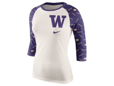 Washington Huskies Nike NCAA Women's Triblend Veer Raglan T-Shirt