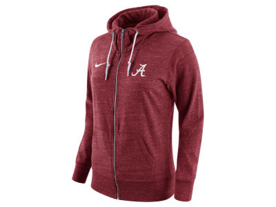 Alabama Crimson Tide Nike NCAA Women's Tailgate Gym Vintage Full Zip Hoodie