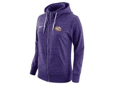LSU Tigers Nike NCAA Women's Tailgate Gym Vintage Full Zip Hoodie