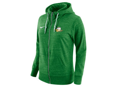 Oregon Ducks Nike NCAA Women's Tailgate Gym Vintage Full Zip Hoodie