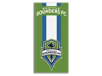 "Seattle Sounders FC MLS 30x60 Beach Towel ""Zone Read"""