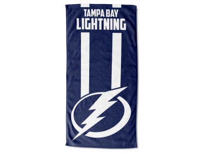 "Tampa Bay Lightning NHL 30x60 inch Beach Towel ""Zone Read"""