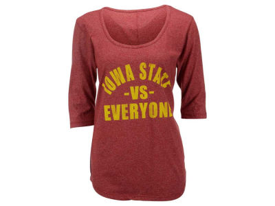 Iowa State Cyclones NCAA Women's Kat Vs Everyone 3/4 Sleeve Mock Twist T-Shirt