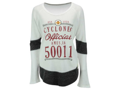 Iowa State Cyclones NCAA Women's Harper Zip Code Contrast Boyfriend Long Sleeve Therma Shirt