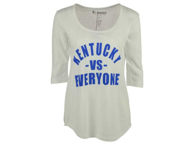 Kentucky Wildcats NCAA Women's Kat Vs Everyone 3/4 Sleeve Mock Twist T-Shirt
