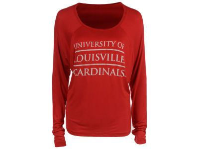 Louisville Cardinals NCAA Women's Chelsea Stacked Split Back Long Sleeve T-Shirt