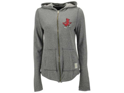 Louisville Cardinals NCAA Women's Jackie 2-Hit Quad Blend Full Zip Hoodie