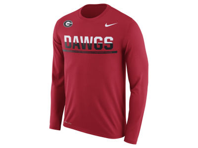 Georgia Bulldogs Nike NCAA Men's Legend Staff Sideline Long Sleeve T-Shirt