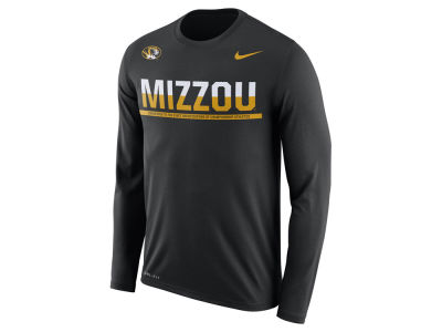 Missouri Tigers Nike NCAA Men's Legend Staff Sideline Long Sleeve T-Shirt
