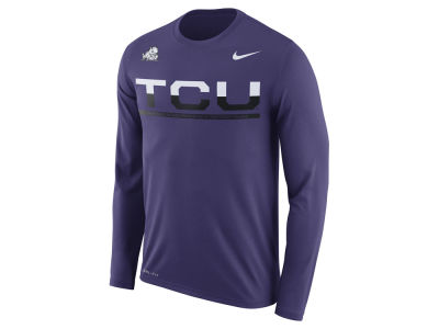 Texas Christian Horned Frogs Nike NCAA Men's Legend Staff Sideline Long Sleeve T-Shirt