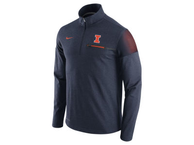 Illinois Fighting Illini Nike NCAA Men's Elite Coaches Half Zip Pullover