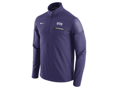Texas Christian Horned Frogs Nike NCAA Men's Elite Coaches Half Zip Pullover