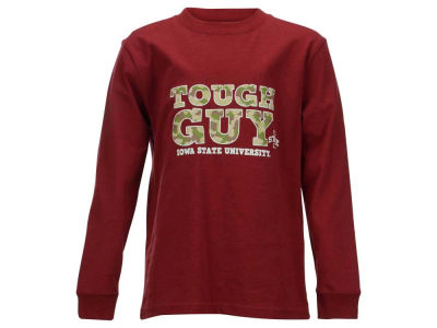Iowa State Cyclones NCAA Youth Tough Guy Camo-Fill Long Sleeve T-Shirt