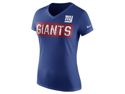 New York Giants Nike NFL Women's Tailgate V-Neck T-Shirt
