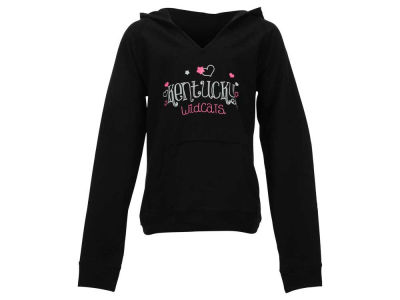 Kentucky Wildcats NCAA Youth Girls Doodle Font V-Neck Pullover Hoodie