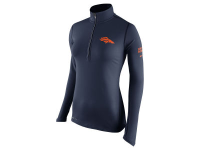 Denver Broncos Nike NFL Women's Tailgate Element Quarter Zip Pullover